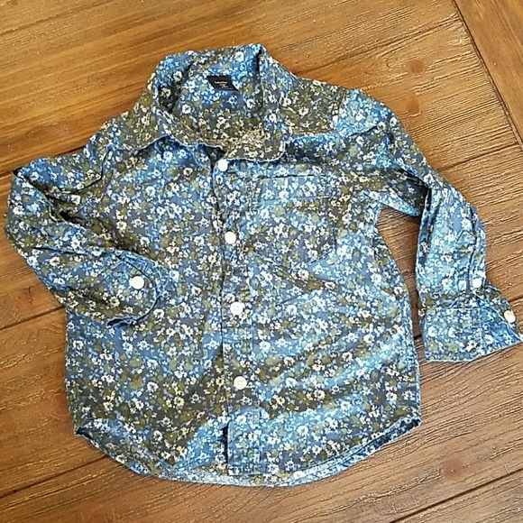 GAP Other - Baby Gap 2 years Floral Button Down